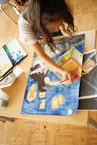 金沢美術学院のこども絵画教室、夏休みの絵