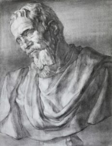 石膏デッサン「ミケランジェロ」